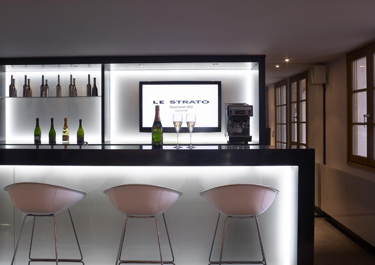 bar a champagne Ski room