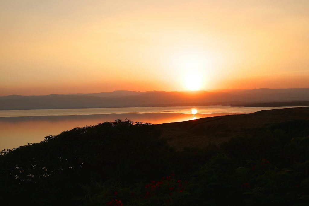 sunset dead sea