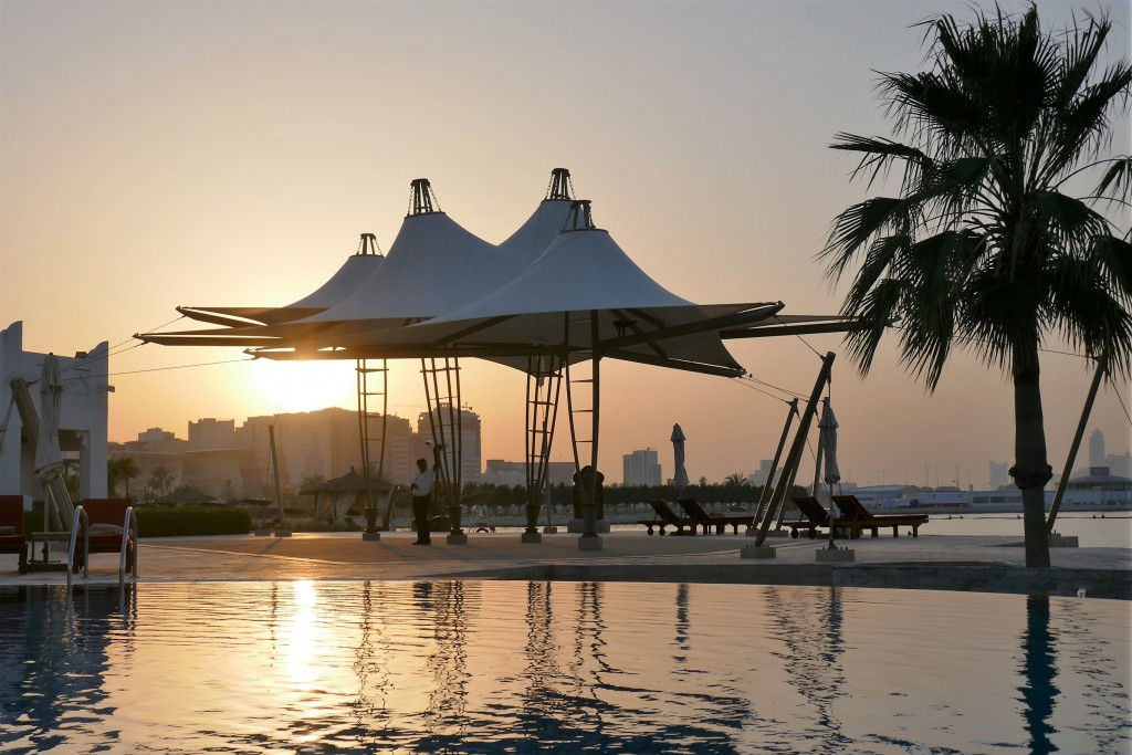 sharq village hotel doha by night sunset