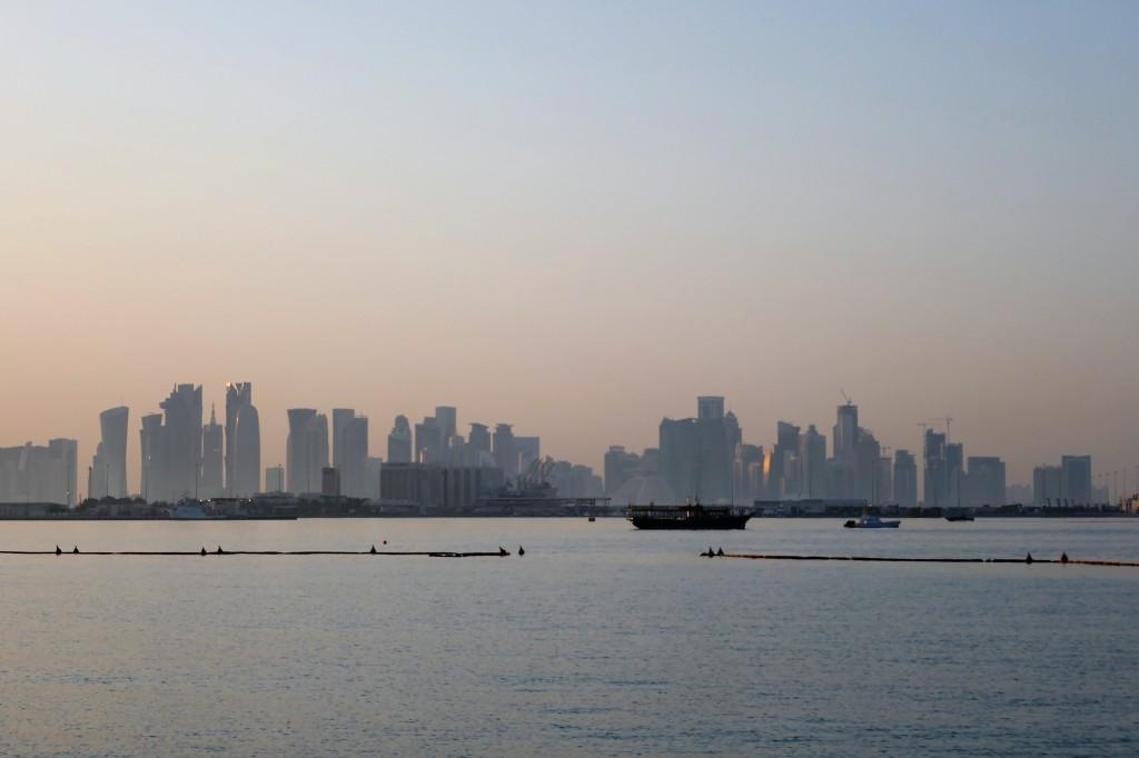 sunset corniche doha qatar