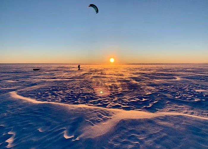 Traversée Sud-Nord du Groenland en Snowkite